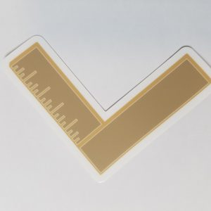"""Warrant Officer Gold Material Maintenance Specialty (MAT) 4"""" with Racing Stripe USCG Coast Guard Coastie Sticker Salty For You"""