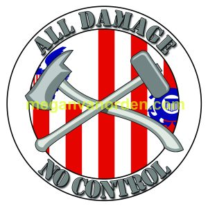 ALL DAMAGE NO CONTROL DC CIRCLE STICKER-with ensign - uscg - damage control