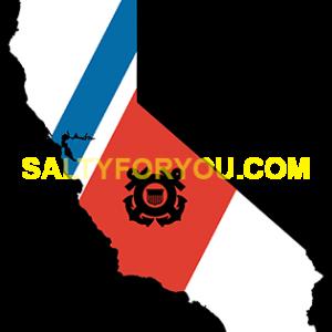 uscg california state with Racing Stripe USCG Coast Guard Coastie Sticker Salty For You