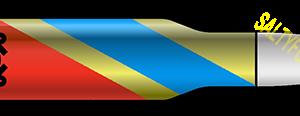 uscg coast guard 50 cal bullet - brass with stripe sticker - website -v2