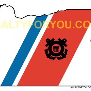uscg Oregon state outline coast guard sticker-website