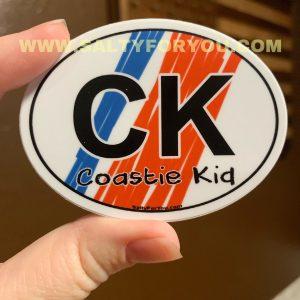 kids oval USCG with Racing Stripe USCG Coast Guard Coastie Sticker Salty For You