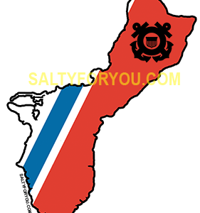 guam USCG with Racing Stripe USCG Coast Guard Coastie Sticker Salty For You