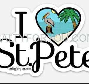 I love St Pete sticker saint petersburg