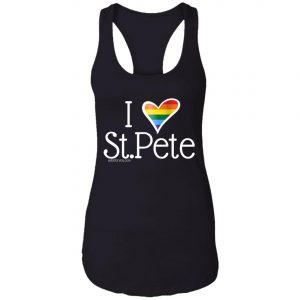 Gay Pride womens tank top I love st.pete tshirt