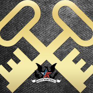 Solid Brass Store Keeper Crossed Keys - Brushed finish navy coast guard logo rating symbol